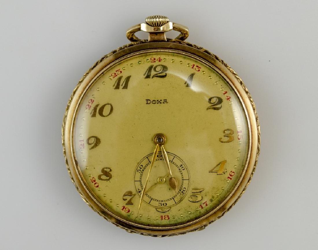 Gold Pocket Watch by Doxa