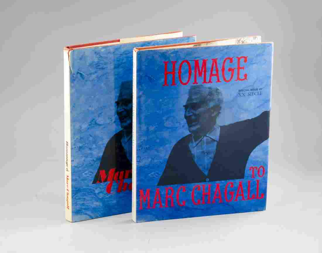 Two Editions of Book about Chagall, Original