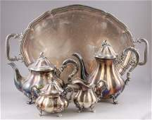 German Silver Coffee Tea Set