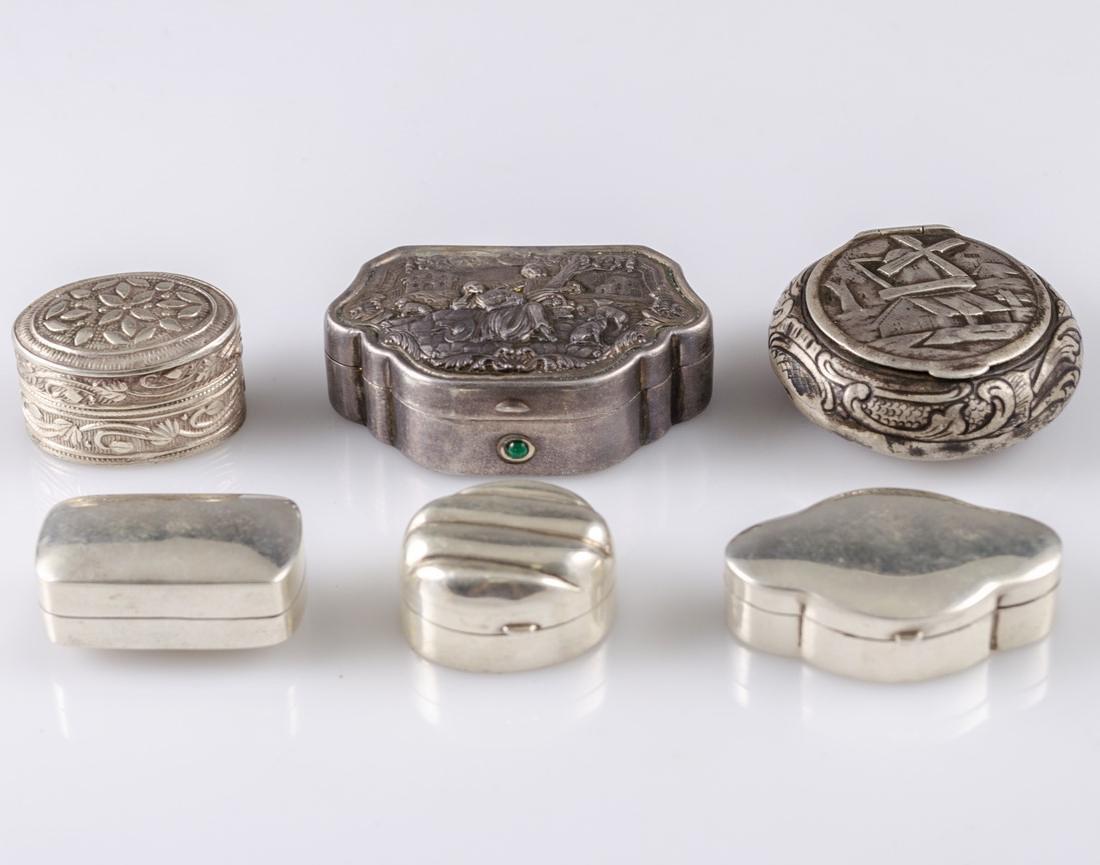 Miniature Silver Boxes