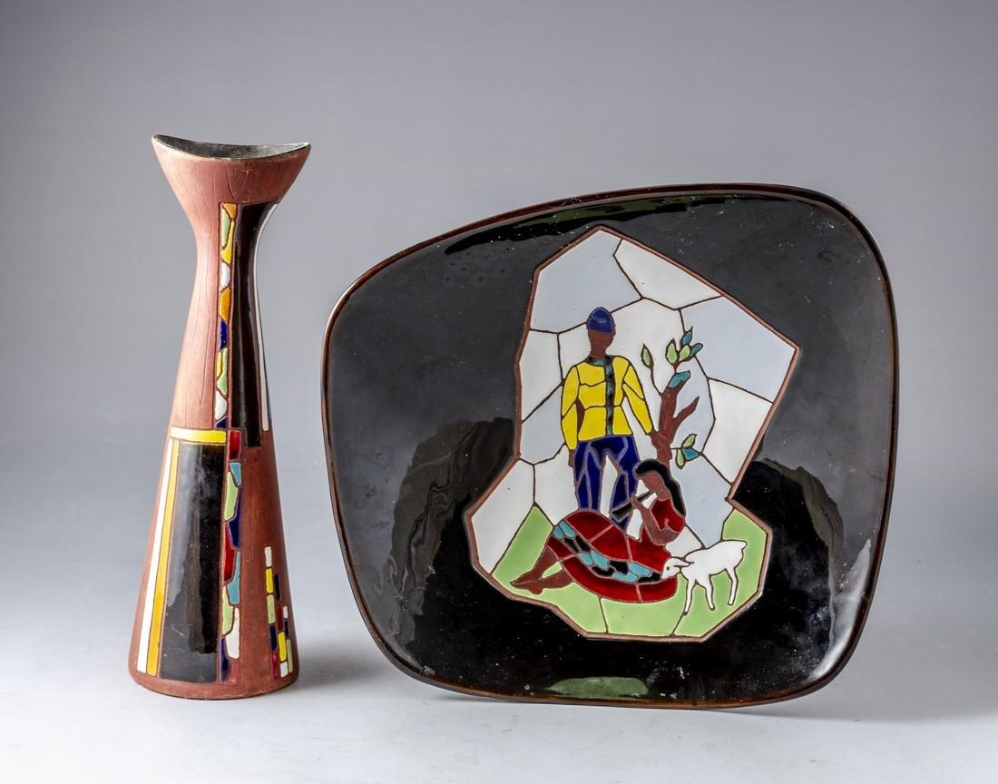 Lot of Israeli Ceramic Items, Keramos