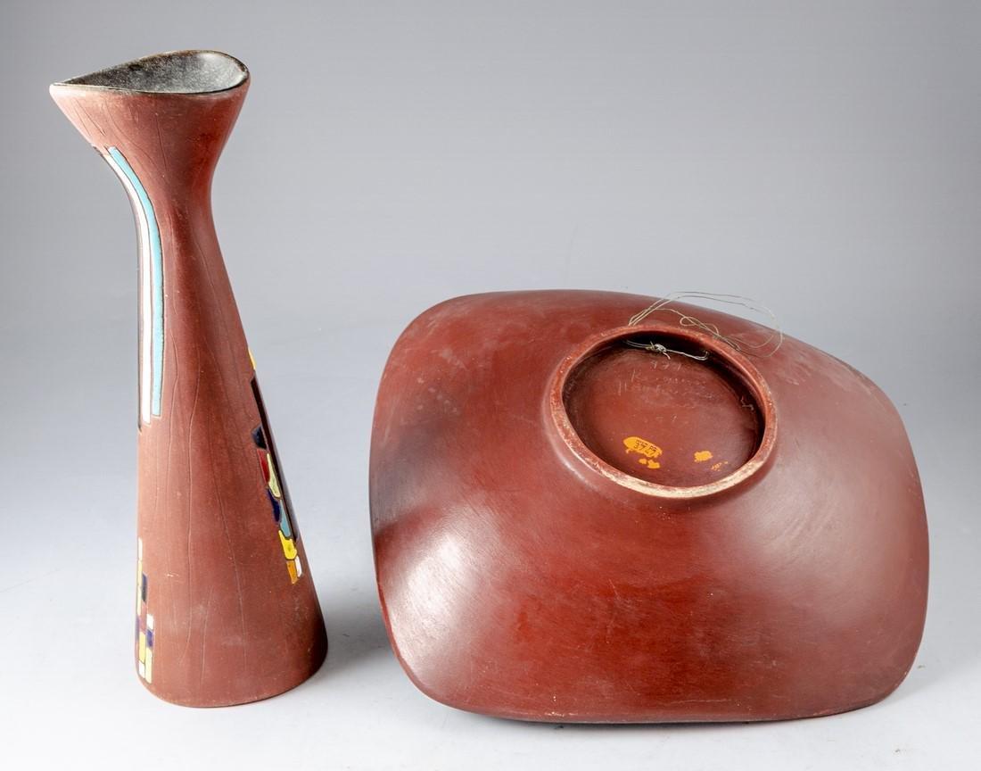 Lot of Israeli Ceramic Items, Keramos - 3