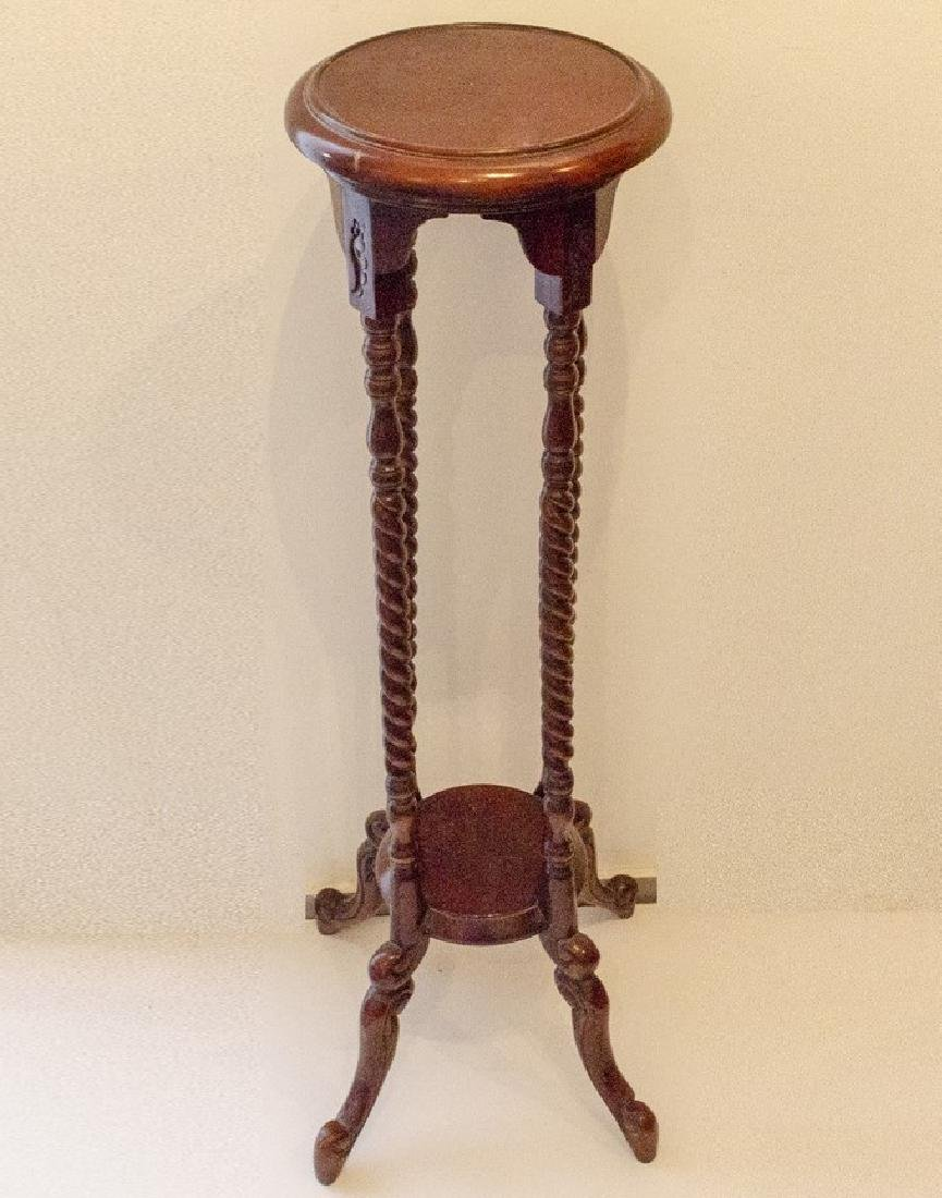 Wooden Sculpture/Plant Stand
