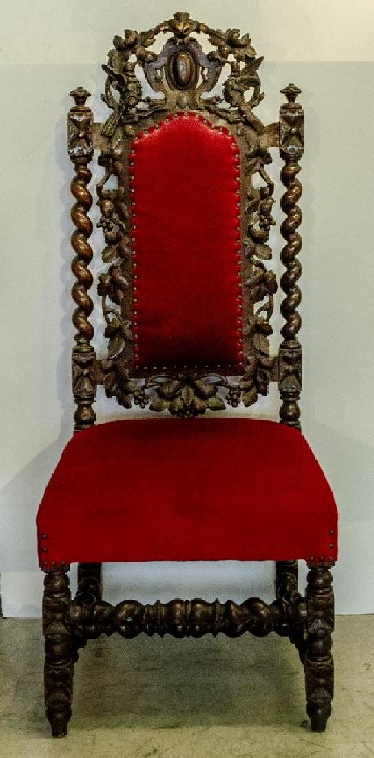 Black Forest Carved Wooden Chair
