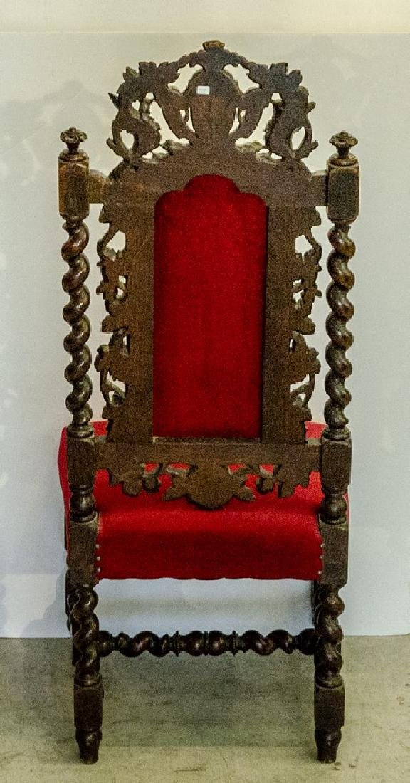 Black Forest Carved Wooden Chair - 3