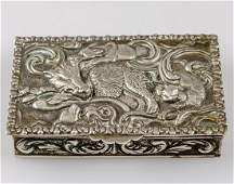 Spanish Silver Snuff Box