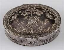 German Silver Snuff Box