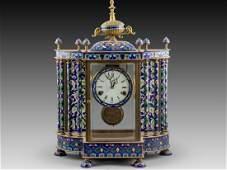 Chinese Cloisonné Mantle Clock