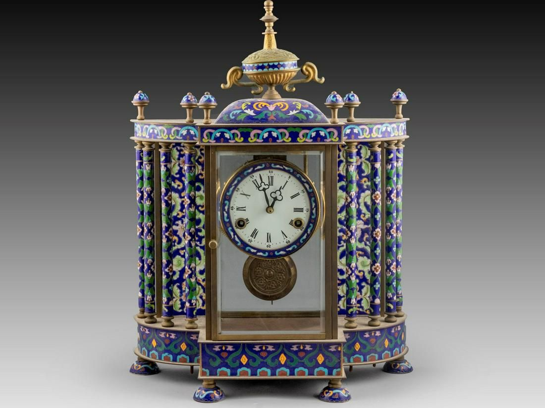 Chinese Cloisonné Mantle Clock