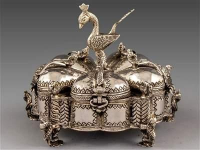 Indian Silver Makeup Box