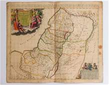 Antique Map of the Holy Land Lot