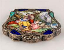 Italian Enameled Silver Snuff Box