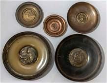 Israeli Brass Plate Lot