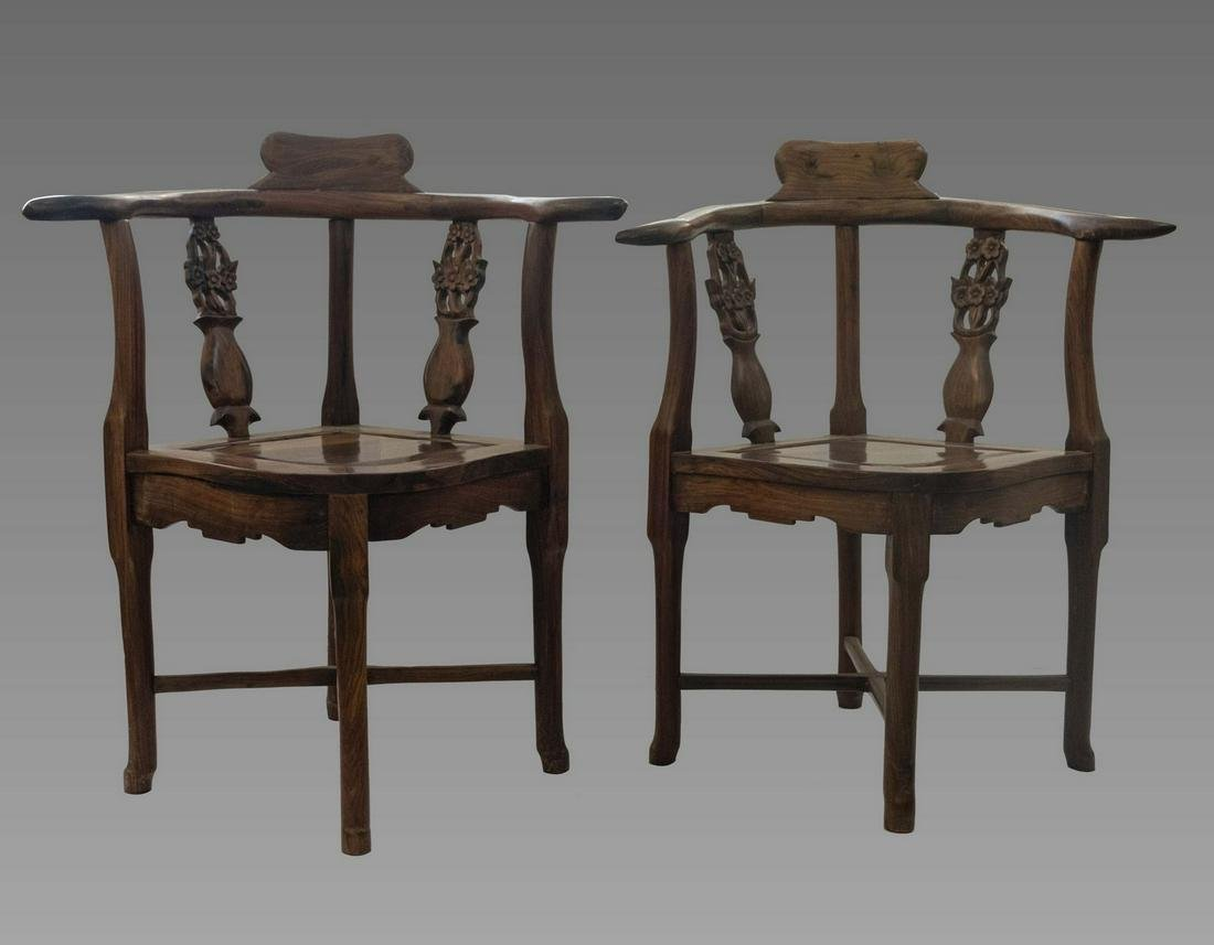 Chinese Rosewood Chairs