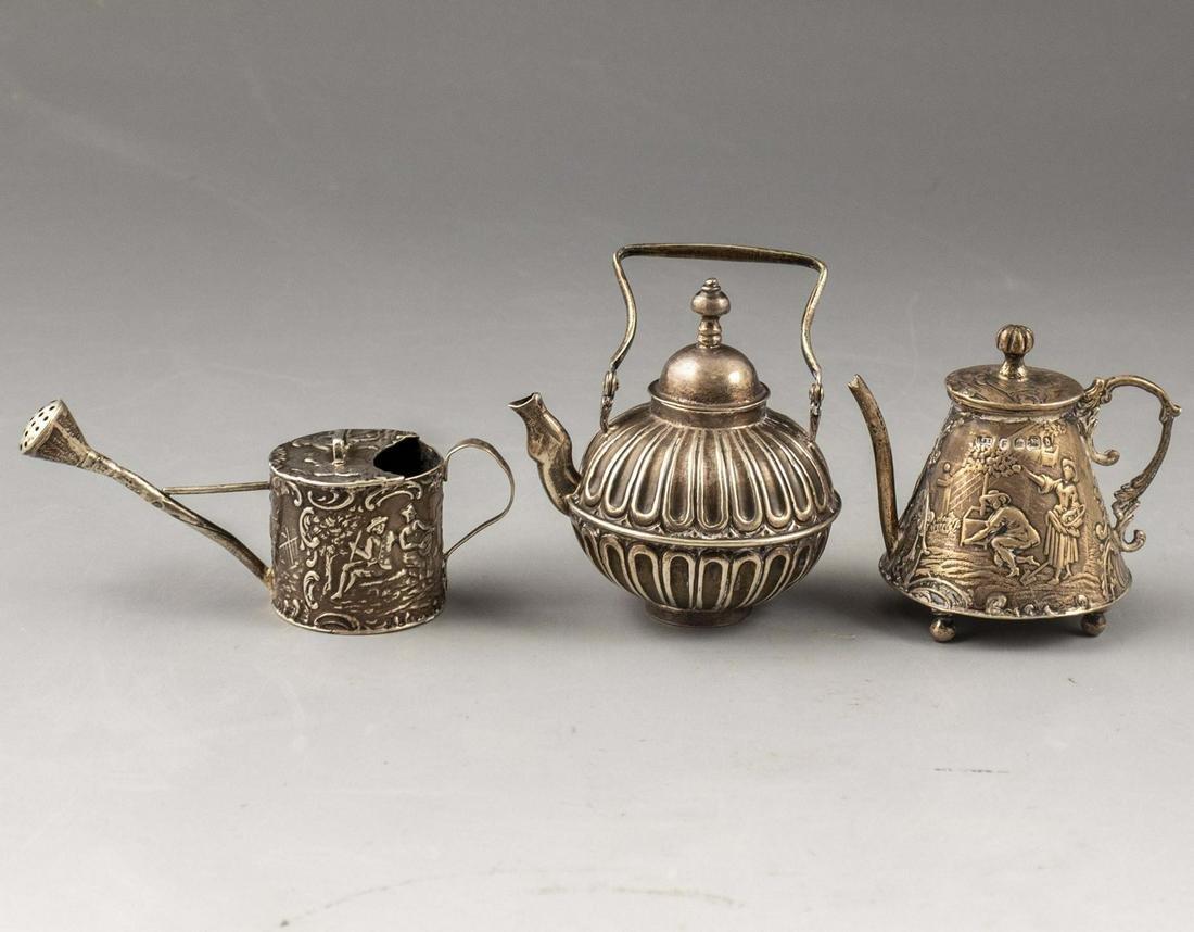 Miniature Silver Teapot Lot