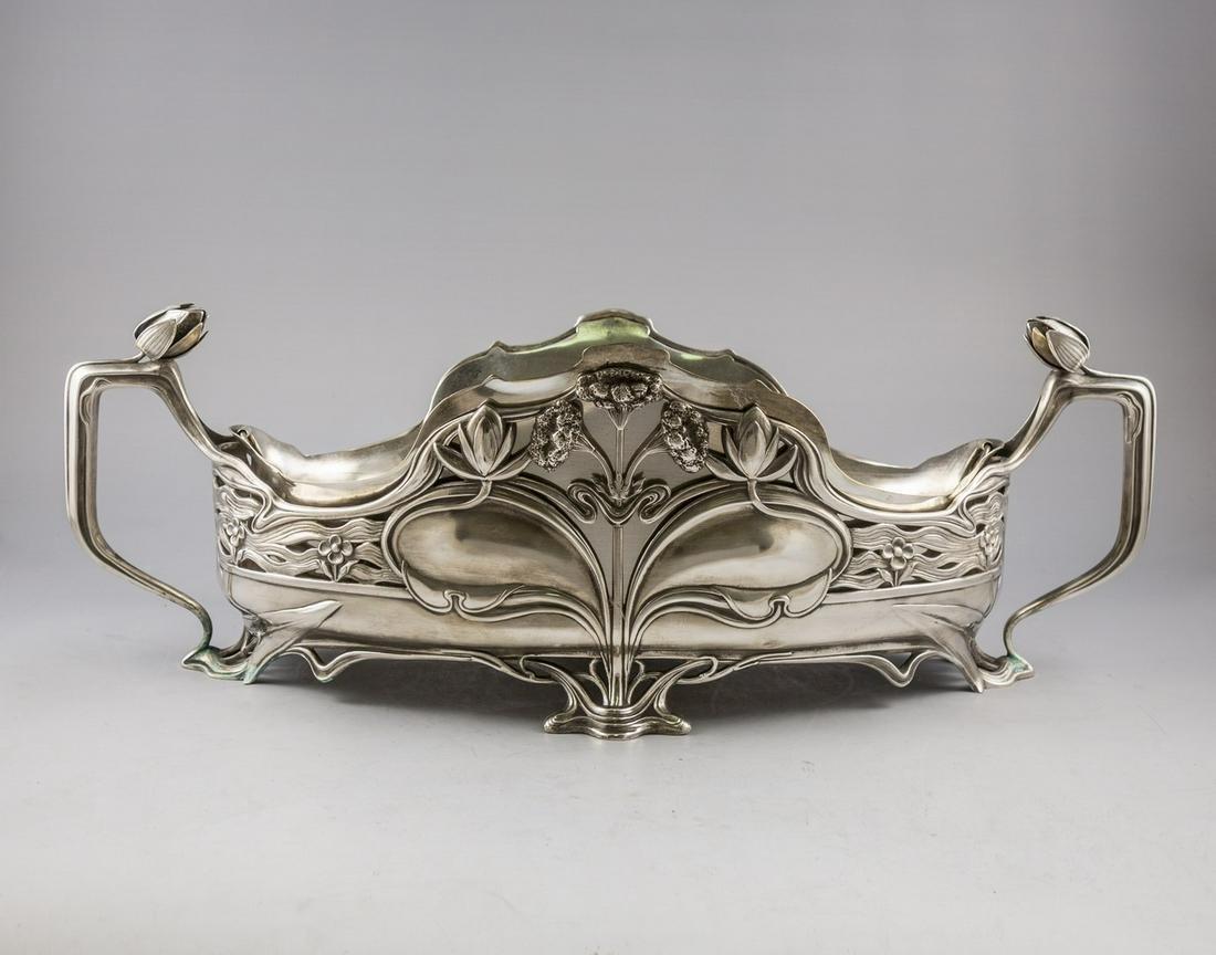 Fine German Art Nouveau Silver Centerpiece