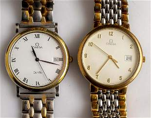 Lot of two Wristwatches, Omega