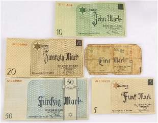Lodz (Litzmannstadt) Ghetto Banknotes