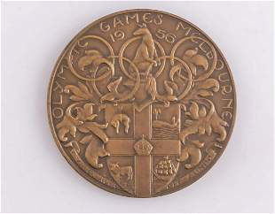 Melbourne 1956 Olympic Games Participant Bronze Medal