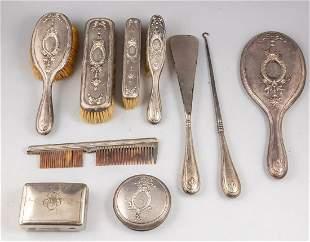 German Silver Toiletry Set