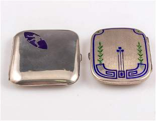 Art-Deco Silver and Enamel Cigarette Cases