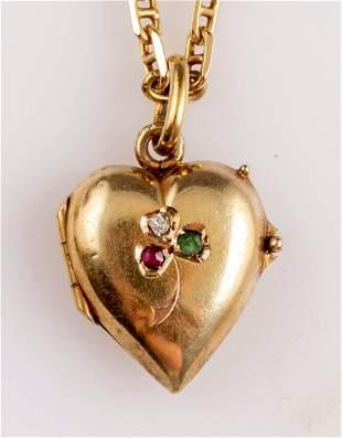 Victorian Gold Locket Pendant
