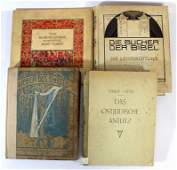 Lot of four books with illustrations of Jewish Artists