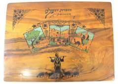 Jerusalem Olivewood writing box