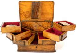 Jerusalem Olivewood sewing box