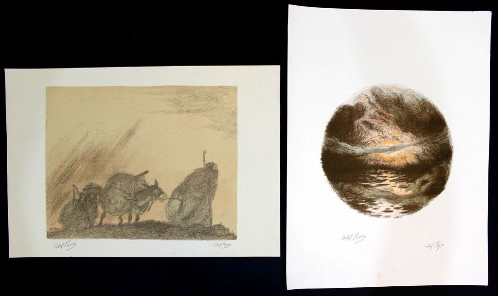 Abel Pann (1883-1963), lot of two lithographs