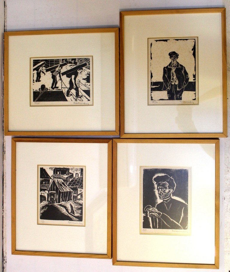 Yaacov Eisencher (1896-1980), lot of four woodcuts