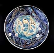 Ceramic Passover plate by Eliezer Halivny