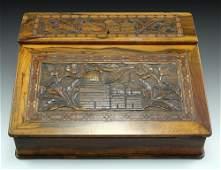 Late 19th century Jerusalem Olivewood Writing Box