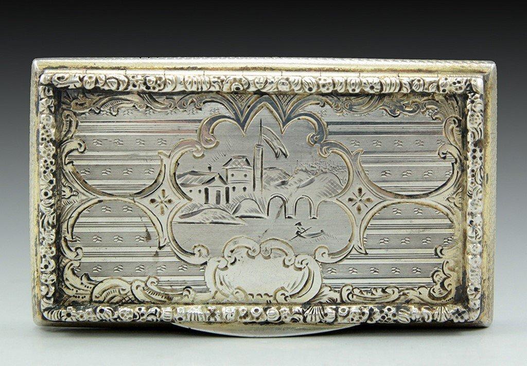 A Viennese silver tobacco box