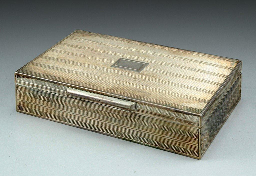 A Silver Cigar case
