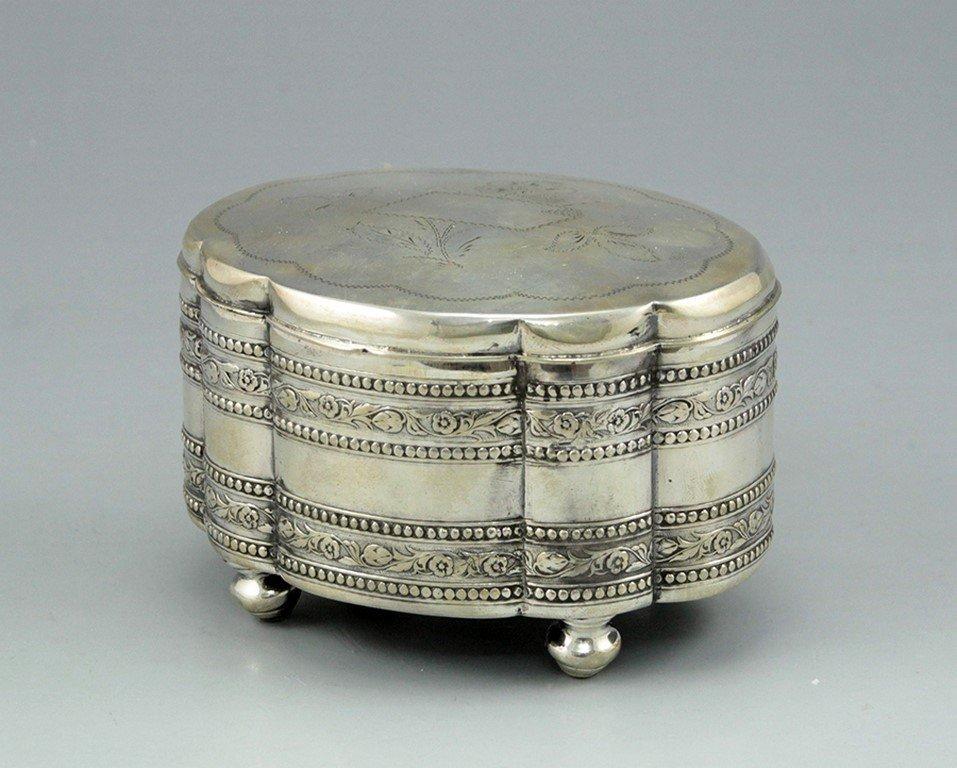 A Polish silver sugar/Ethrog box