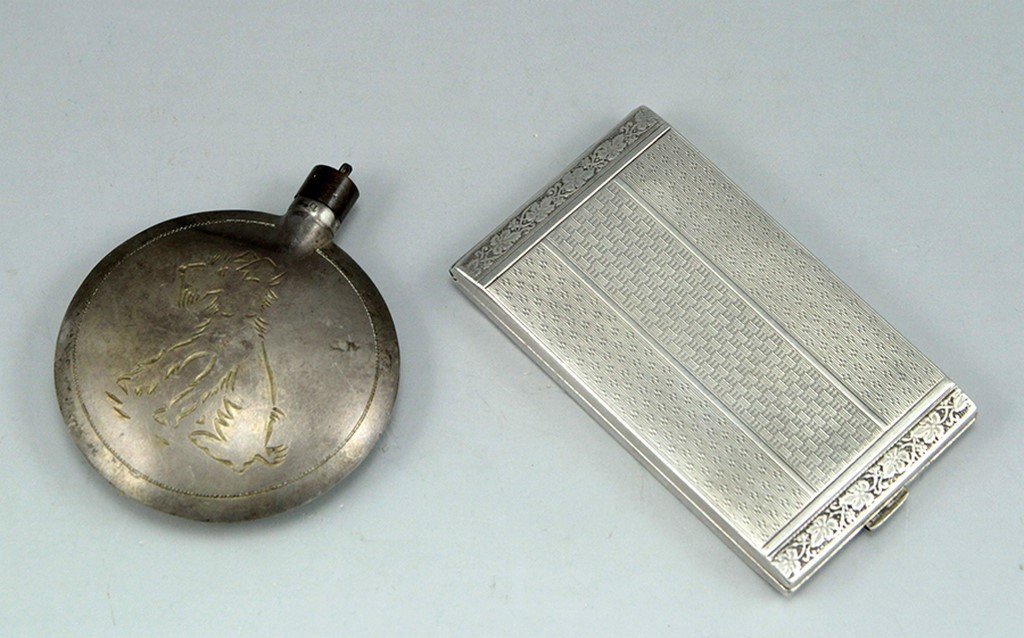Lot two silver items