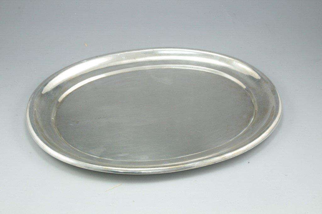 A Swedish silver tray