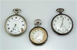 Lot three pocket watches