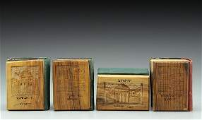 Lot four Siddurs with Jerusalem Olivewood covers