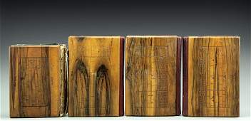 Lot four Judaica prayer books with Jerusalem Olivewood