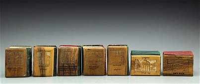 Lot Seven Siddurs with Jerusalem Olivewood covers
