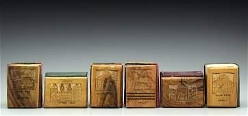 Lot Six Siddurs with Jerusalem Olivewood covers