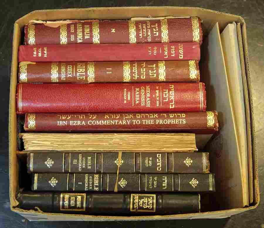 Lot of facsimiles of ancient Jewish books