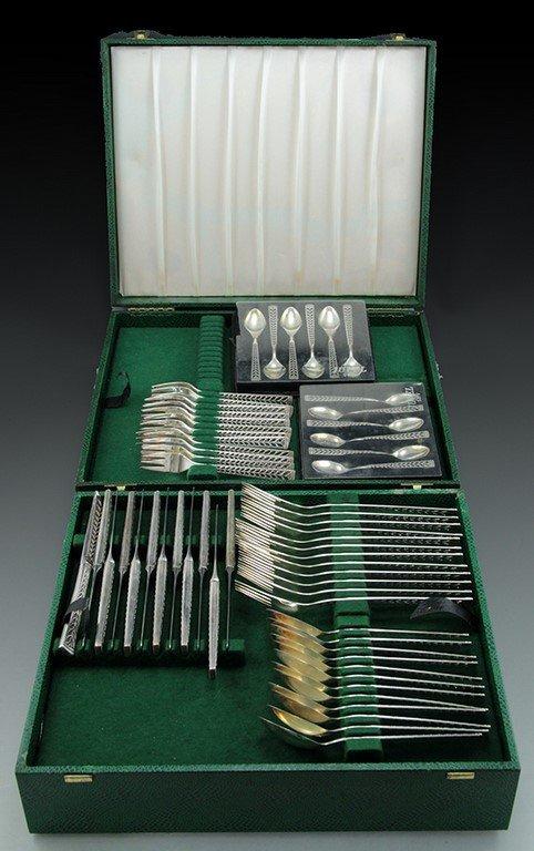 Silver cutlery set by Nils Hansen, Juvel