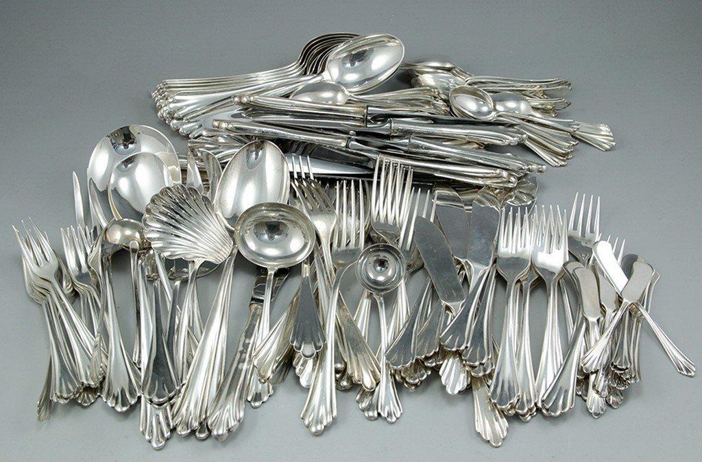 Silver cutlery set by Camusso, Peru