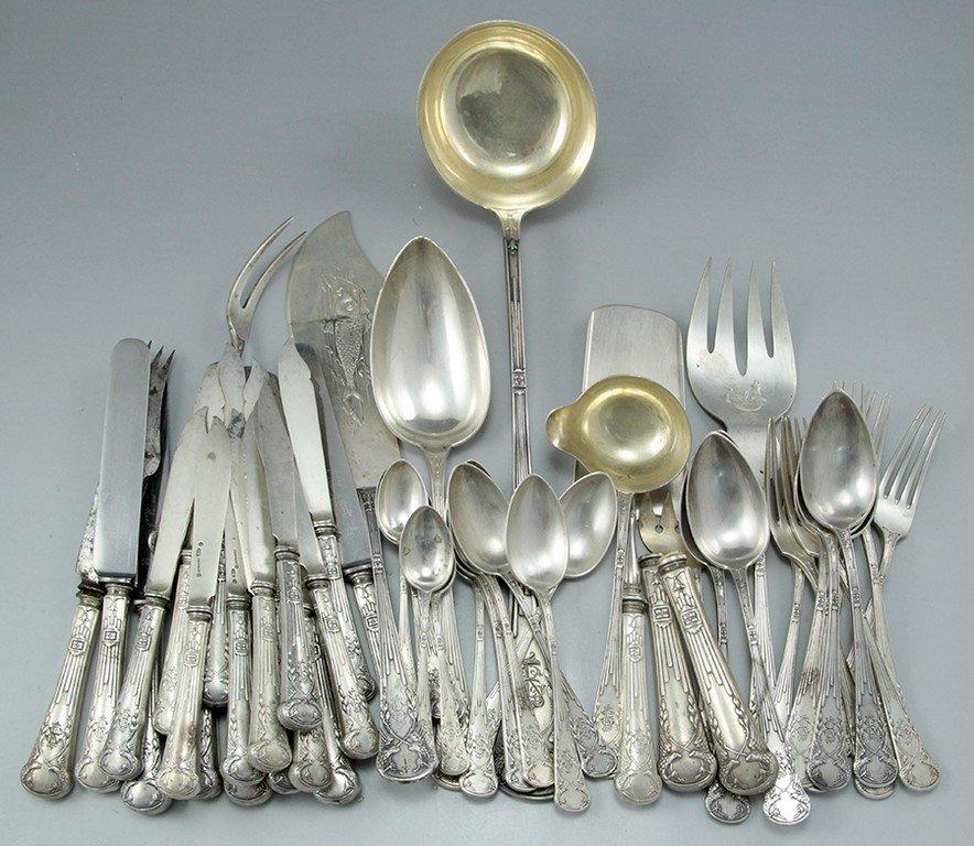 Russian silver cutlery set