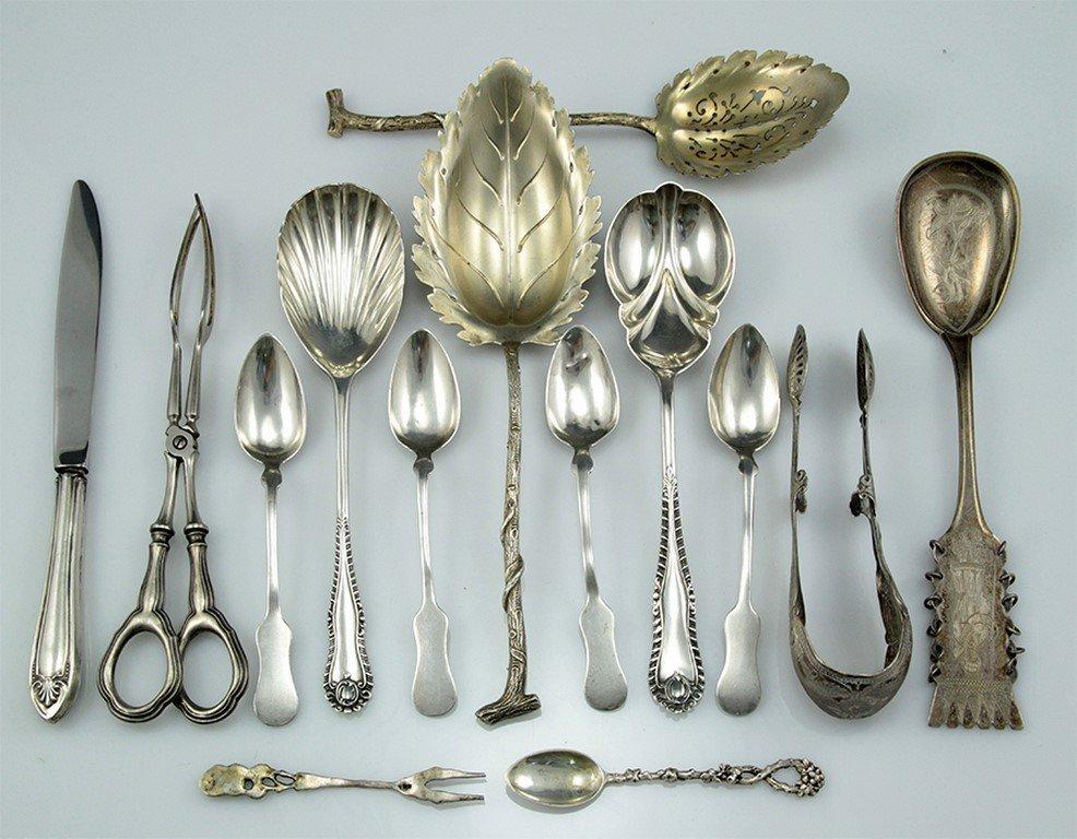 Lot of silver cutlery