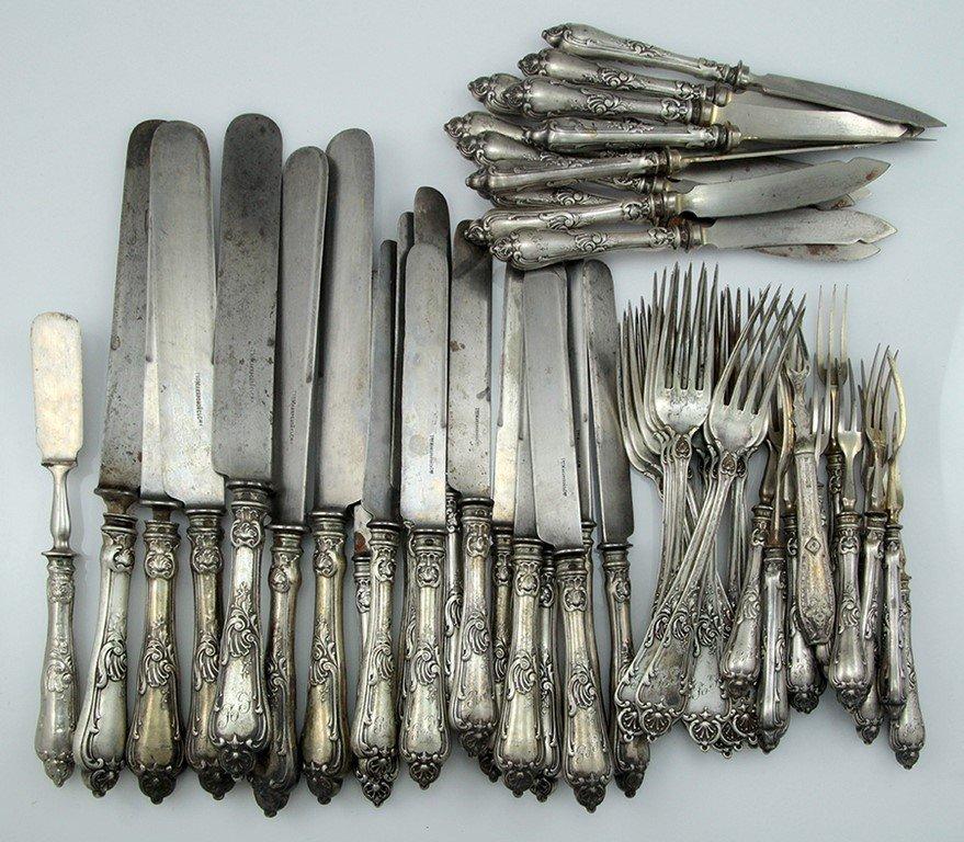 Russian 84 silver cutlery set