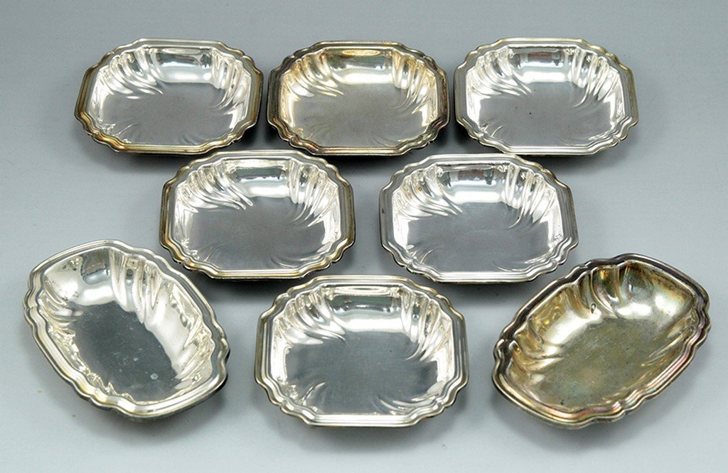 Lot small silver bowls